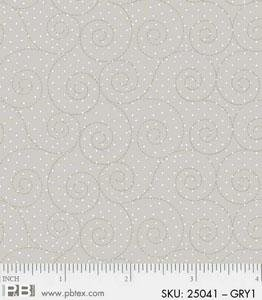 4486-25041-GRY1 Swirls and Dots