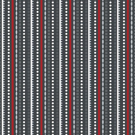 4582-11 Dotted Stripes dark grey