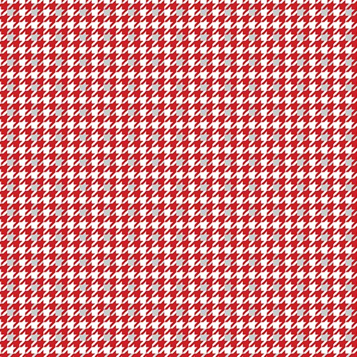 4584-10 Houndstooth red