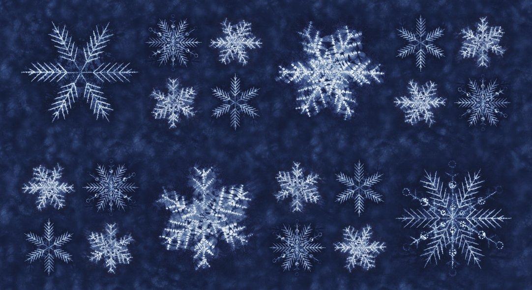 48050-12 Sunforeko Mizu Snowflakes Panel medium blue