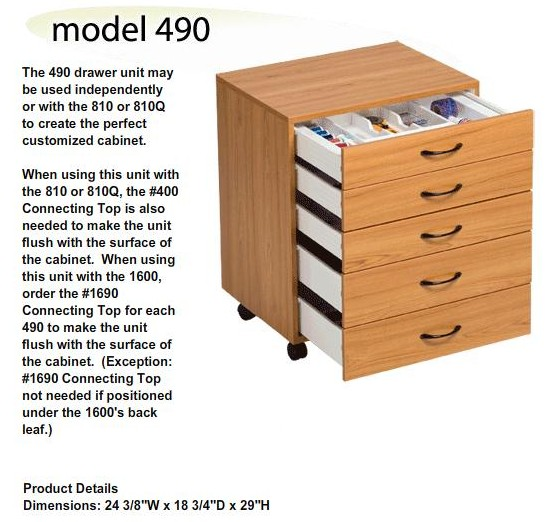Drawer Stack 490 - Five Drawers