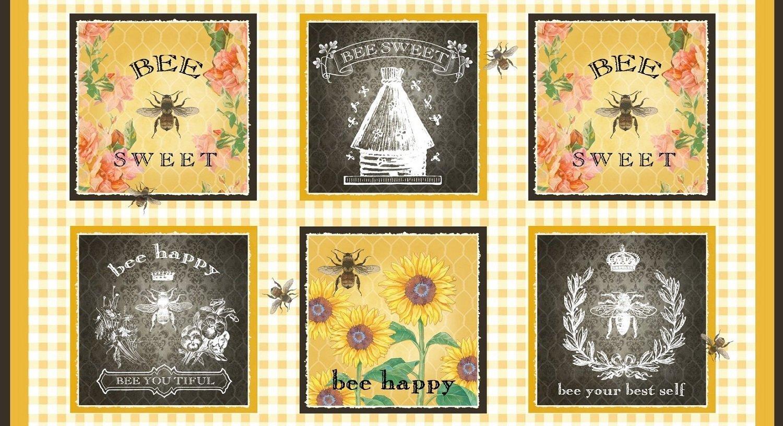5124-44 Bee Sweet Blocks multi