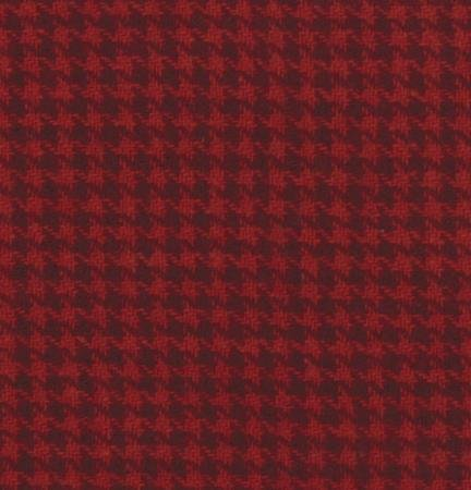 54811-14 Red Houndstooth Plaid Wool