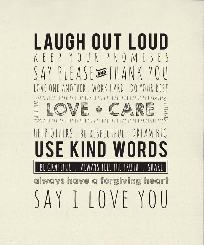 5761-11P Printworks Use Kind Words Canvas Panel