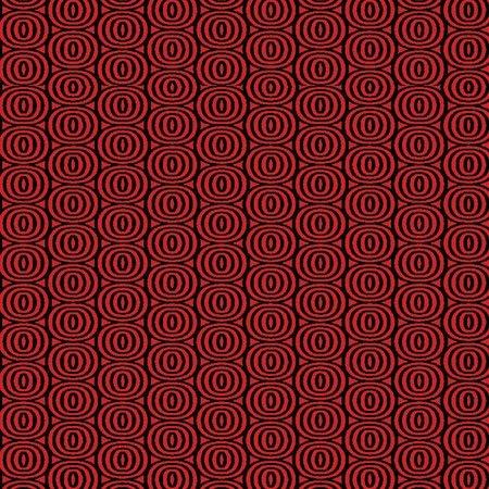 8411-10 Optic CIrcles black on cherry red