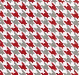 846 Houndstooth red and gray