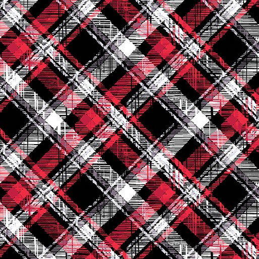 8510F-12 Scottish Pet Plaid Flannel black