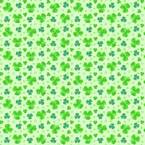 9368-66 Tossed Clover green on green