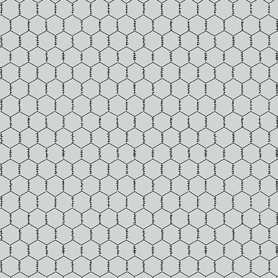 A-9635-C Chicken Wire black on light grey