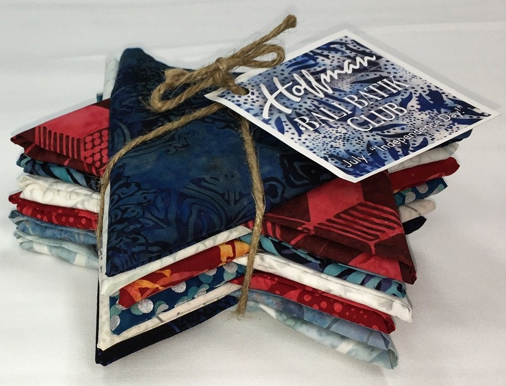 Bali Batik INDEPENDENCE DAY Fat Quarter Bundle FQAUTO-592-July