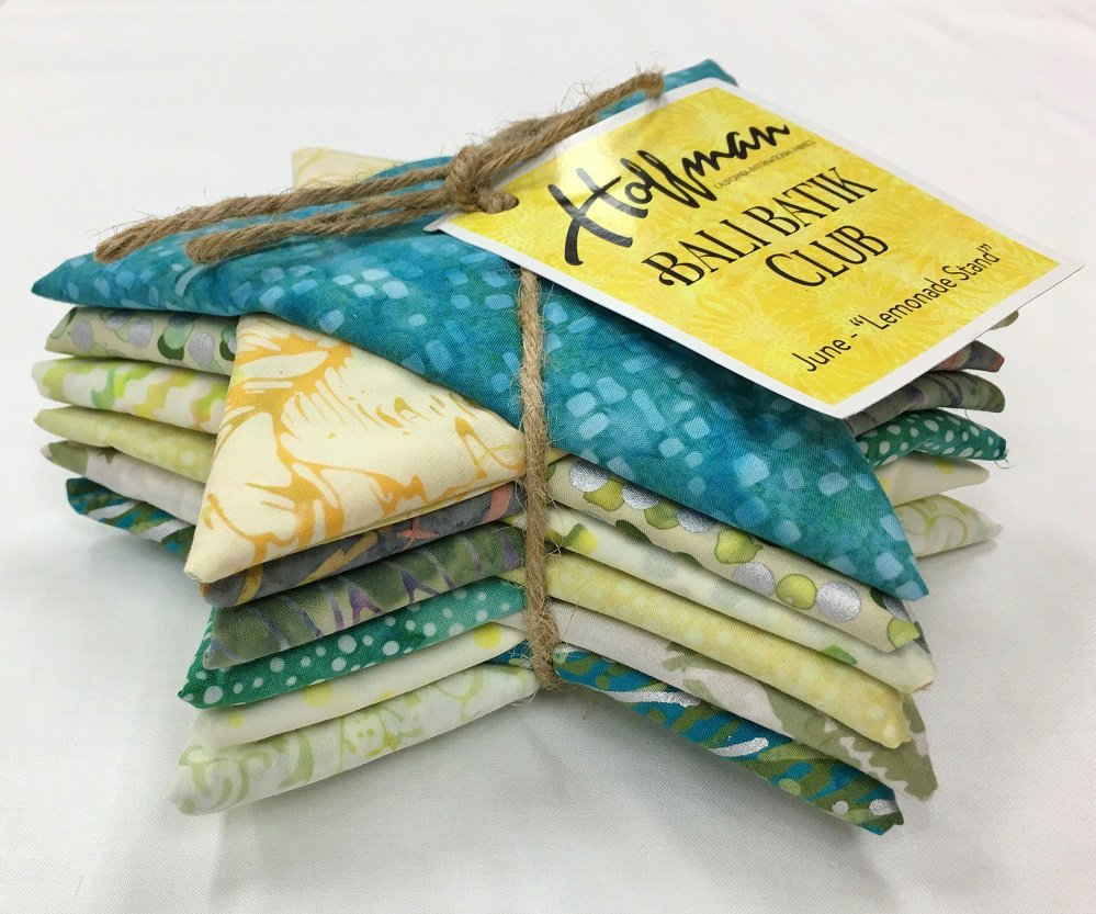 Bali Batik LEMONADE STAND Fat Quarter Bundle FQAUTO-591-June
