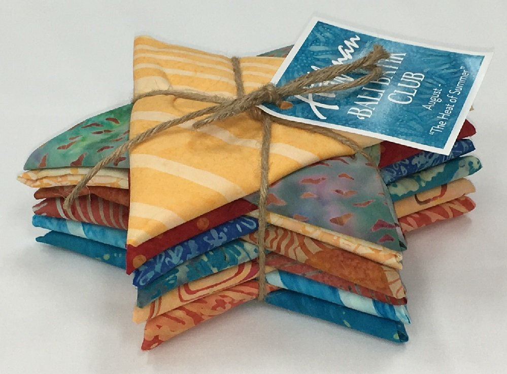 Bali Batik THE HEAT OF SUMMER Fat Quarter Bundle FQAUTO-593-August
