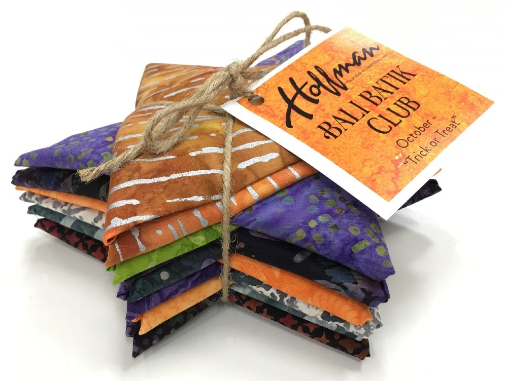 Bali Batik TRICK OR TREAT Fat Quarter Bundle FQAUTO-595-October