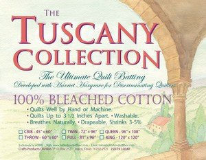 Batting Tuscany Bleached Cotton 72x96 Twin