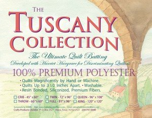 Batting Tuscany Polyester 120x120 King