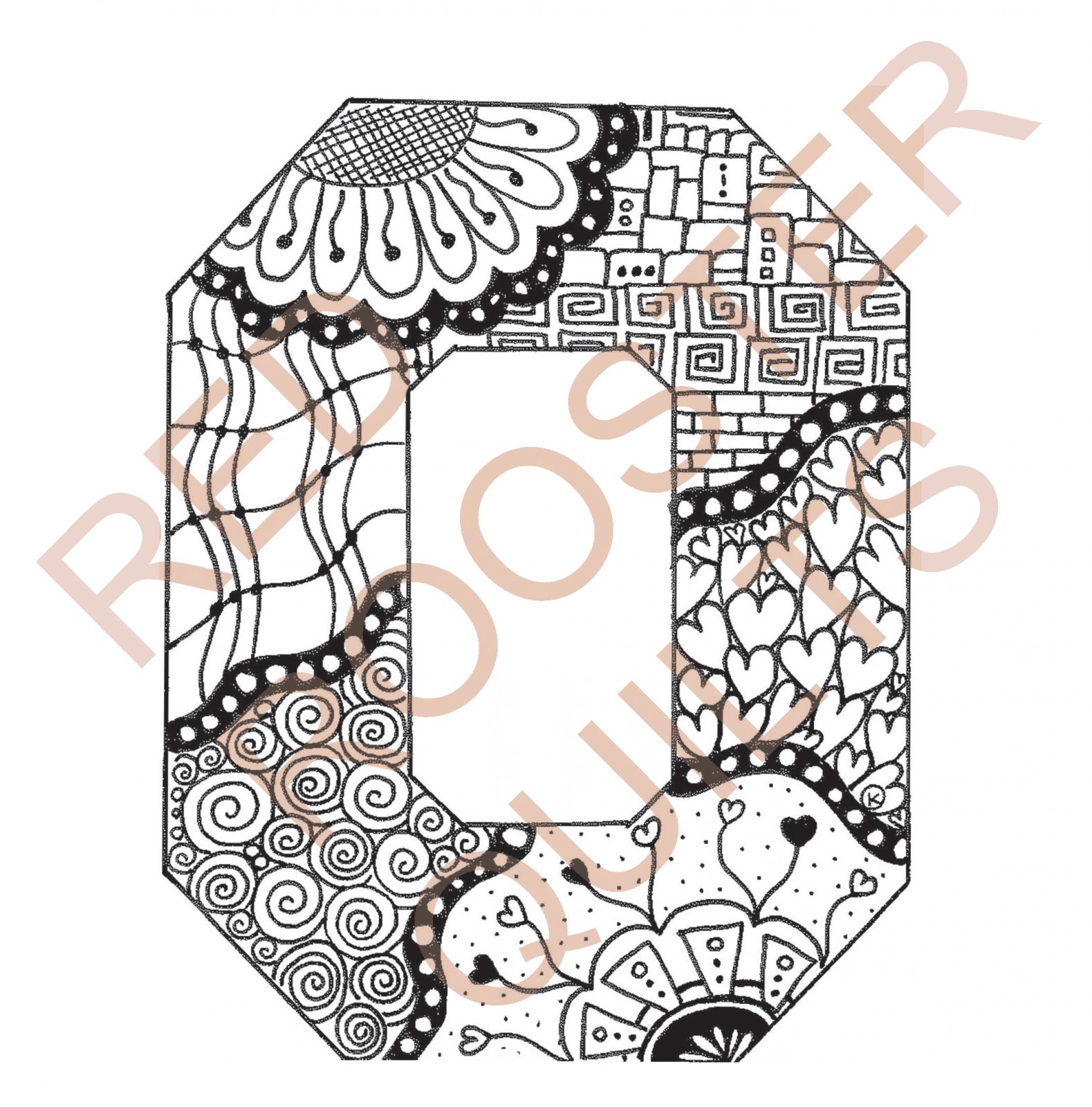 Zentangle Inspired Block O Swatch - RRQ Original