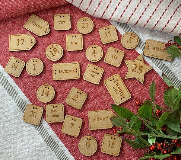 Buttons for Christmas Advent Calendar 25ct