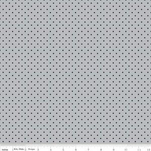 c6966-gray Delilah Swiss Dots