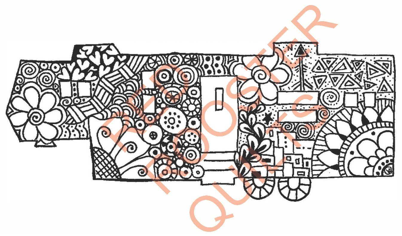 Zentangle Inspired Camper 5th Wheel Swatch - RRQ Original