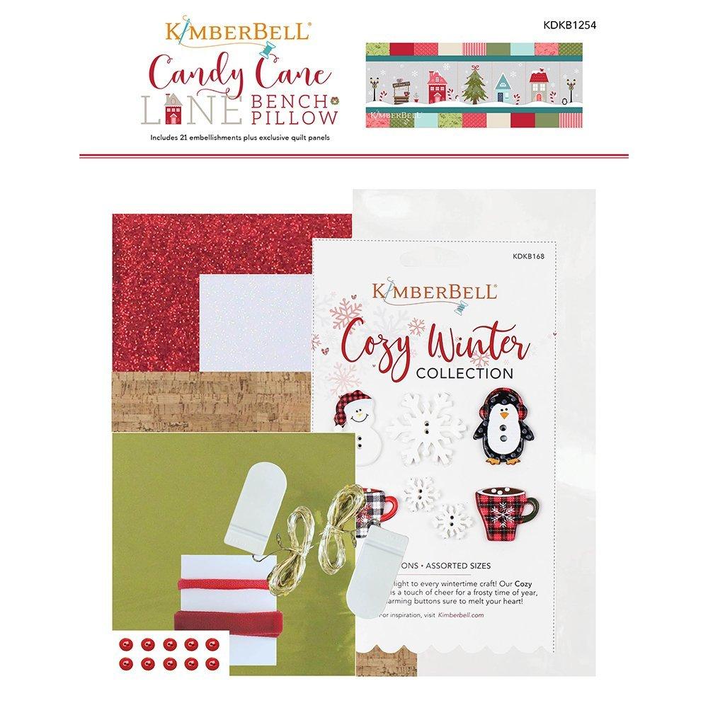 PRE-ORDER Candy Cane Lane Bench Pillow Embellishments Kit