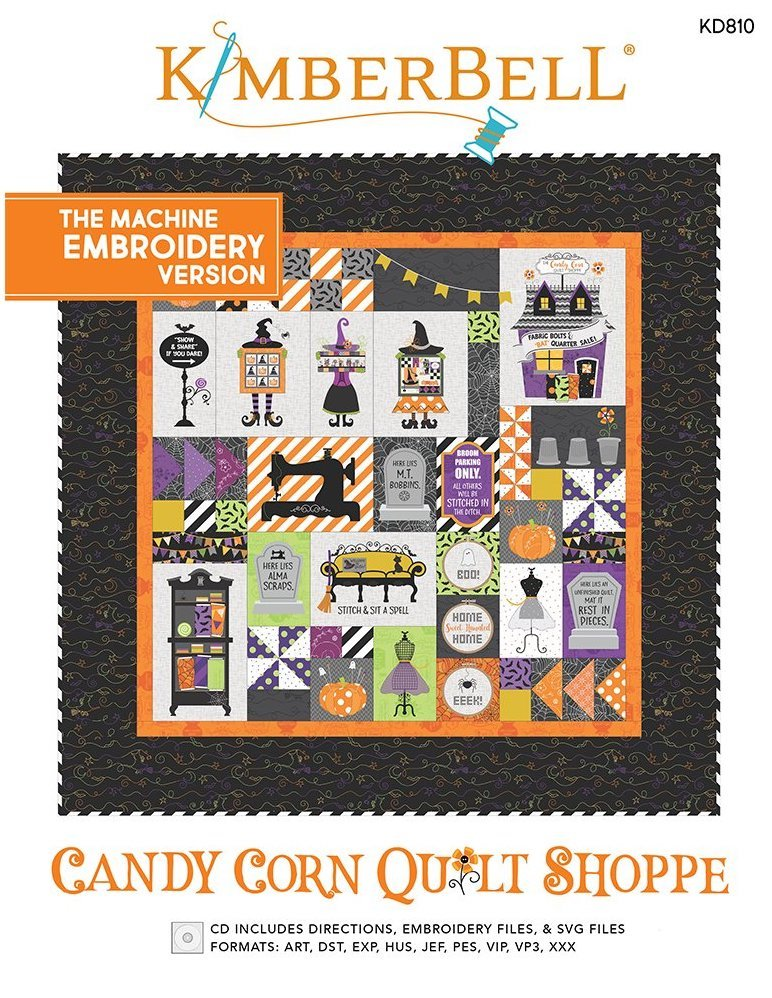 Candy Corn Quilt Shoppe Machine Embroidery Patterns CD