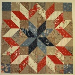 Carpenter's Star Charm Quilt Pattern - RRQ Original