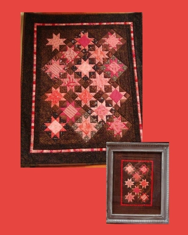 Chocolate Covered Cherries Quilt Kit - RRQ Original