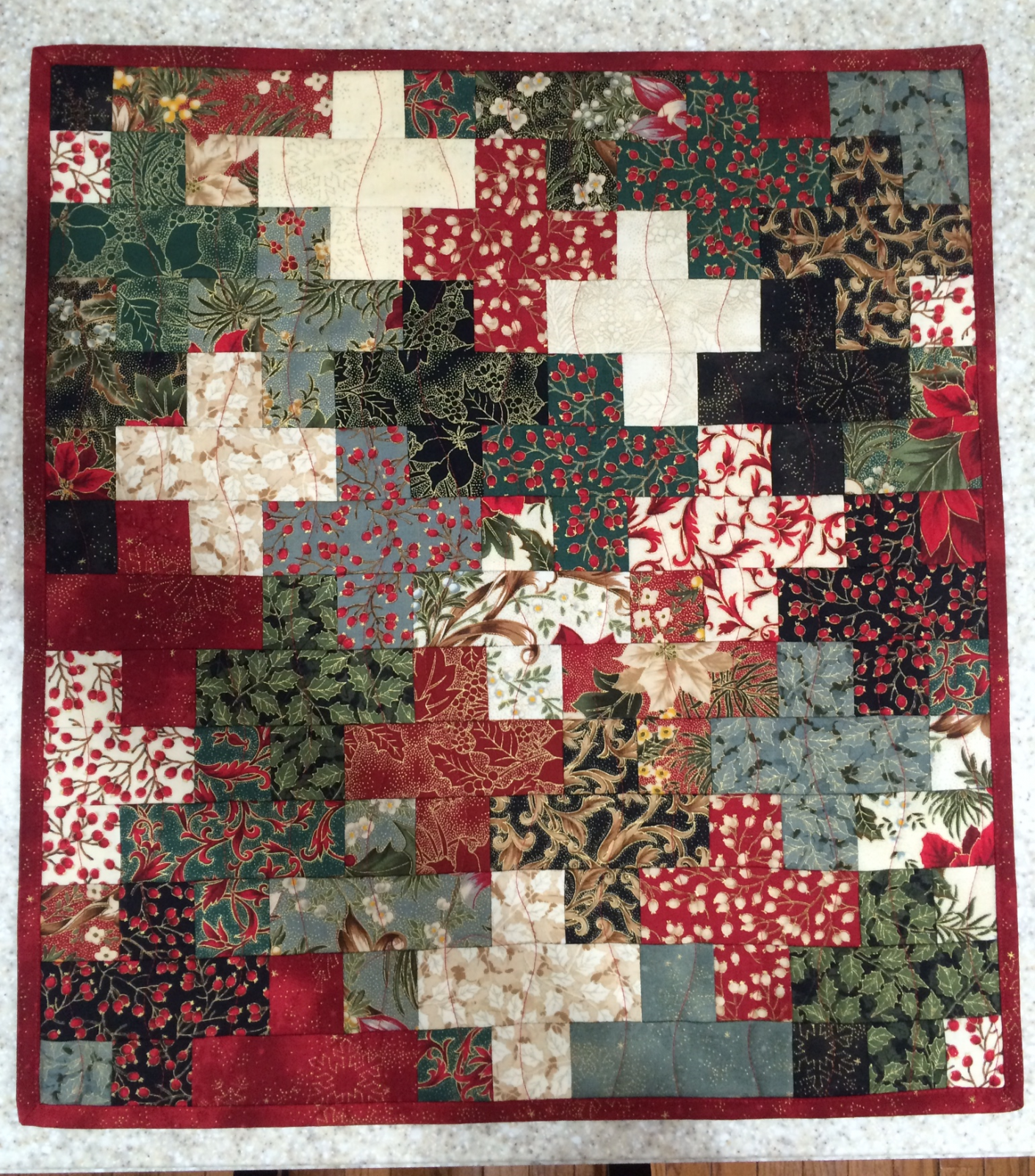 Christmas Crosses Quilt Pattern Download - RRQ Original
