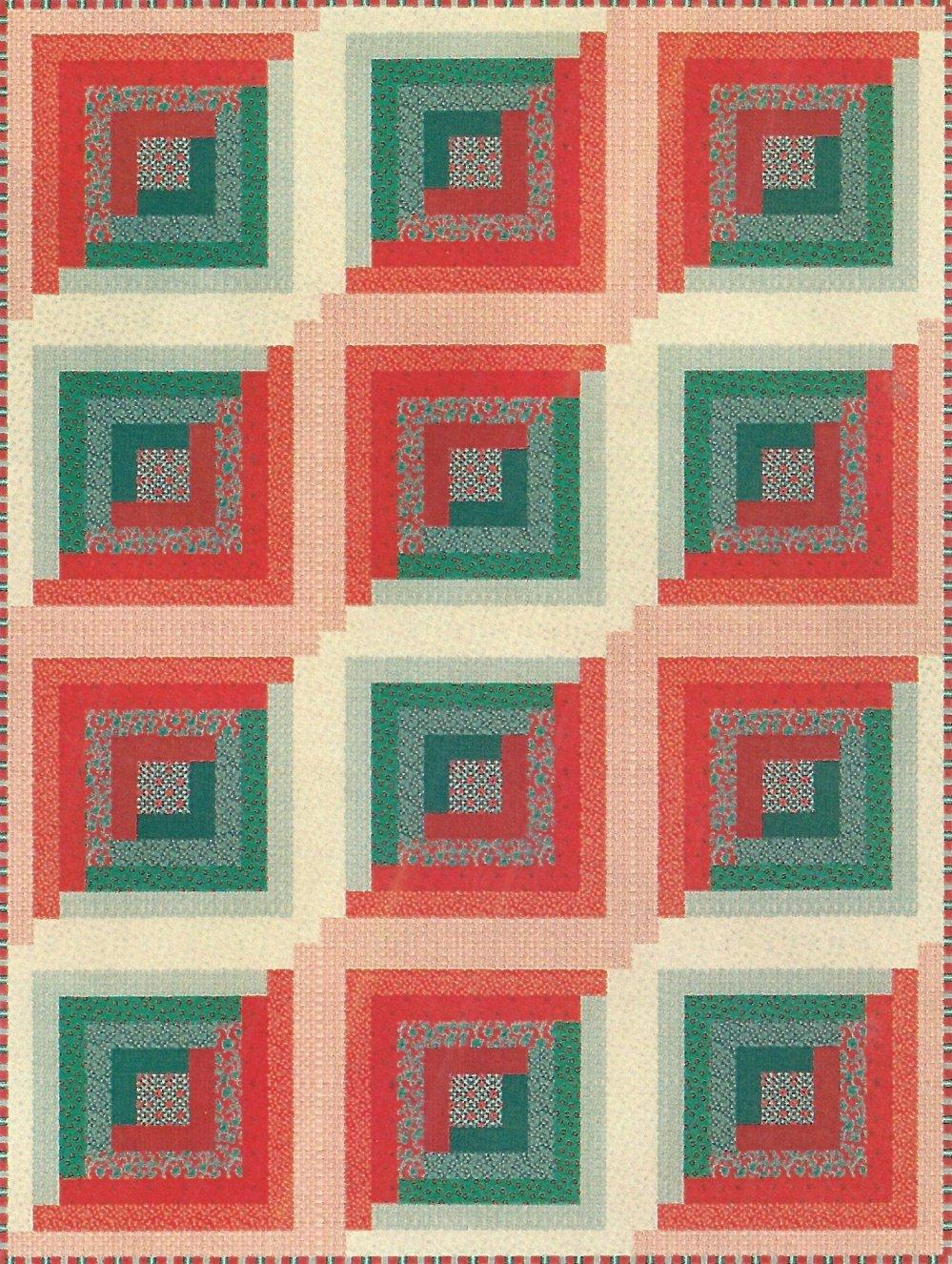 Christmas Logs Flannel Quilt Kit