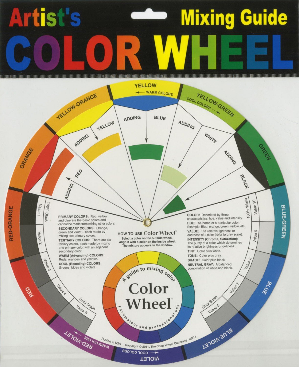 Color Wheel Mixing Guide 9-1/4