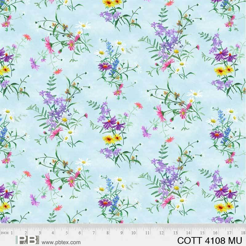 COTT-4108-MU Wildflowers Allover multi