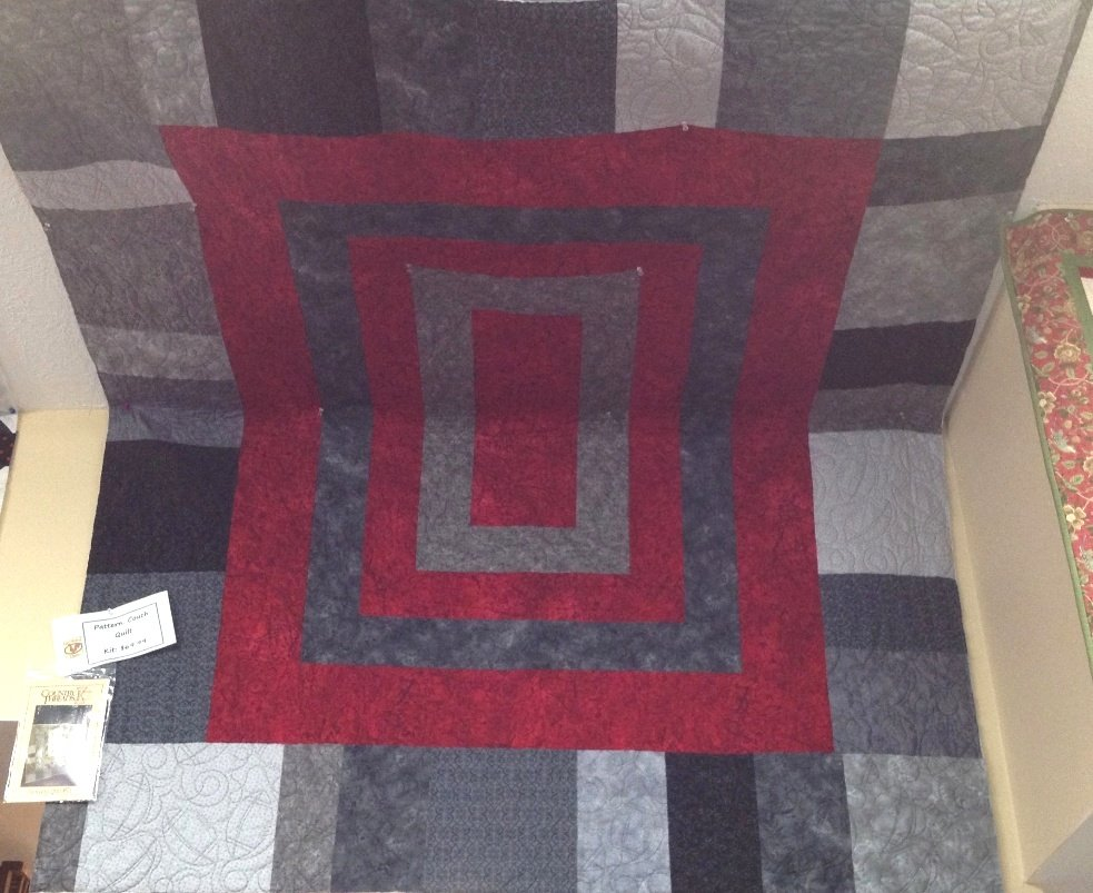 Couch Quilt Kit OSU colors