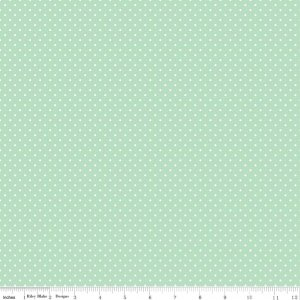 F670-Mint Swiss Dots Flannel