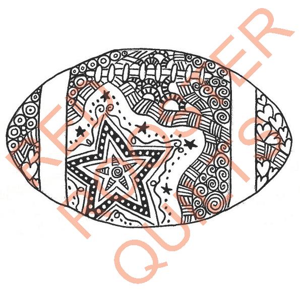 Zentangle Inspired Football Swatch - RRQ Original