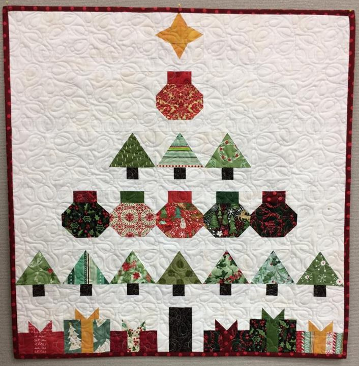 christmas tree quilt kit 2018 with pattern