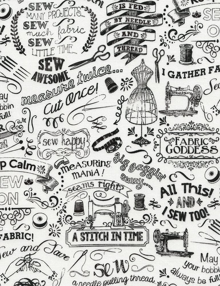 Gail-C3417-White Sewing Chalk Words