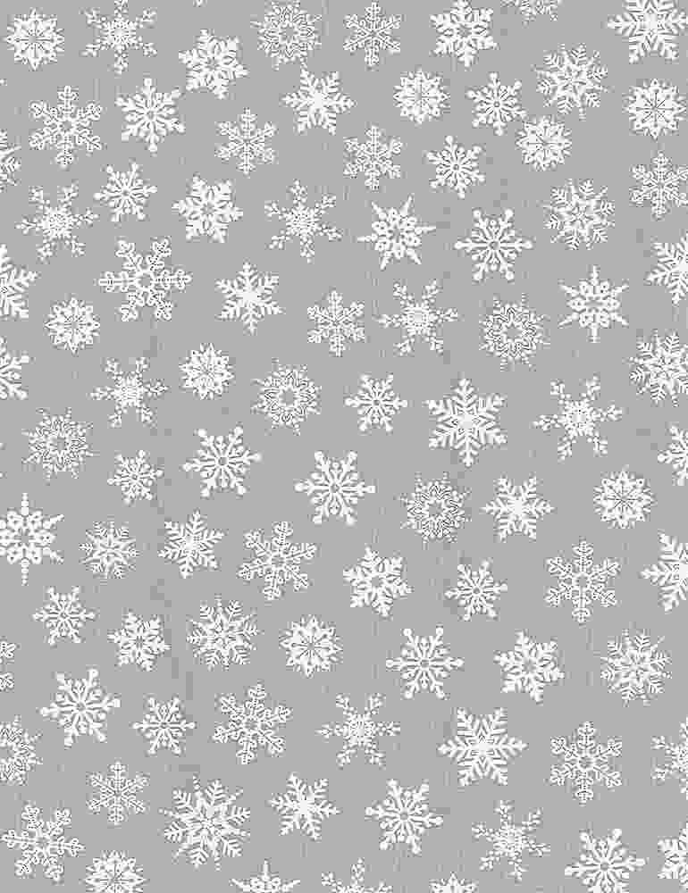 GAIL-C8211-GREY Snowflakes