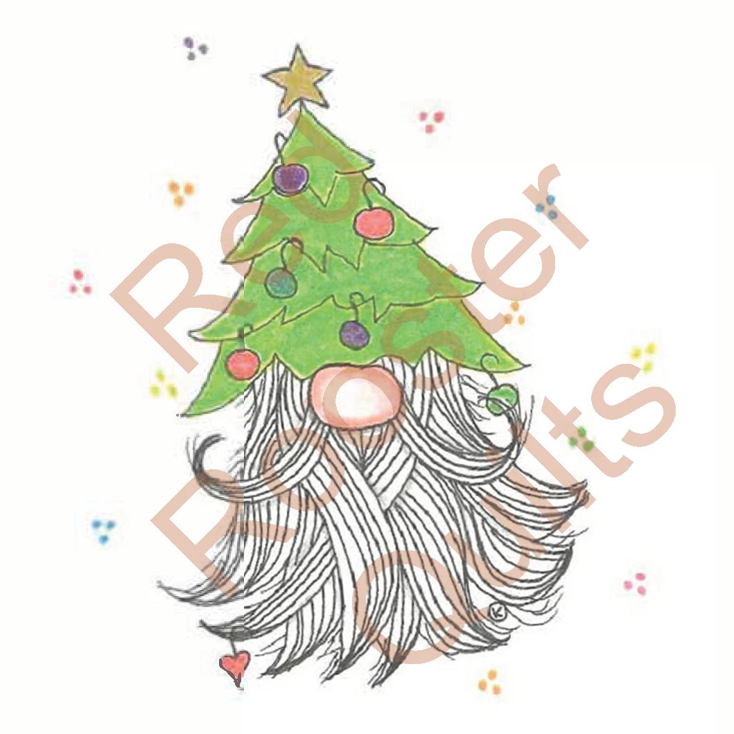 Zentangle Inspired Christmas Tree Gnome Swatch - RRQ Original
