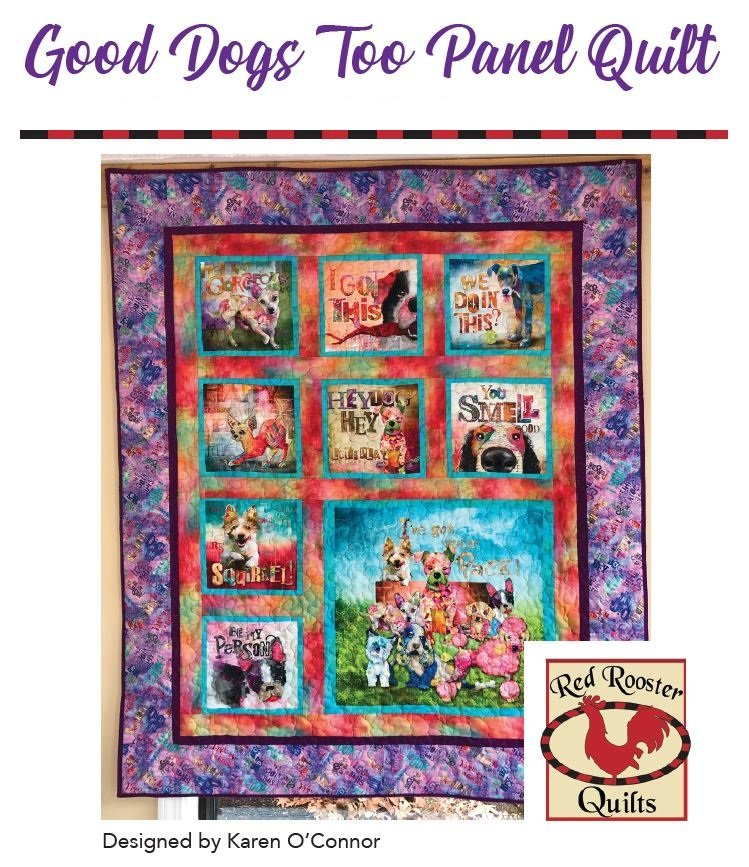 Good Dogs Too Panel Quilt Pattern - RRQ Original