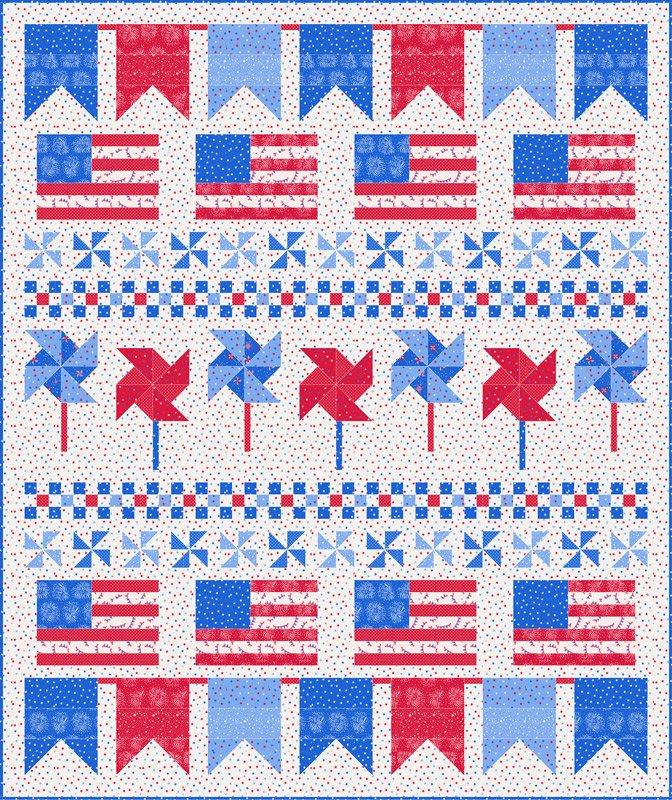 Holiday Essentials Americana Quilt Kit