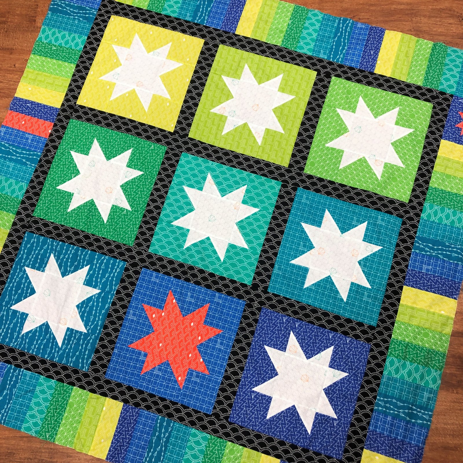 Sample - Foundations Starry Quilt Top