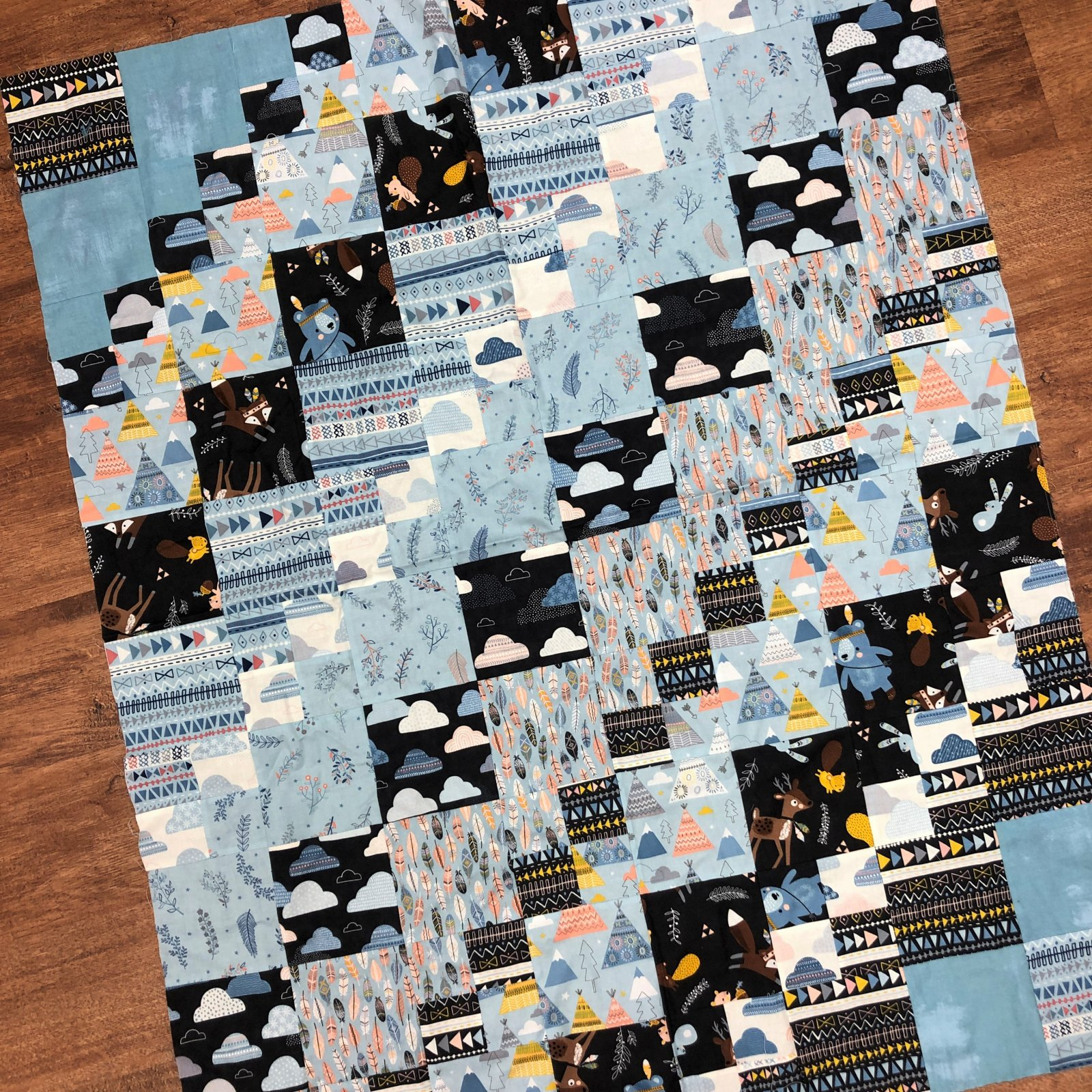 Sample - Patchwork with Wild & Free Quilt Top