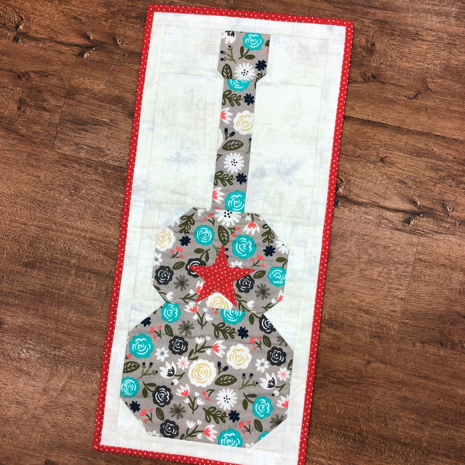 Sample - Guitar Star Mini Quilt