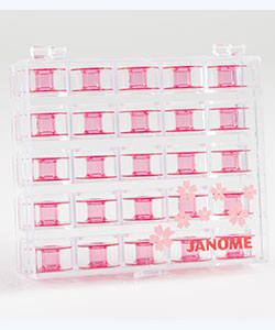 Bobbins - 25 Janome Pink in Storage Box