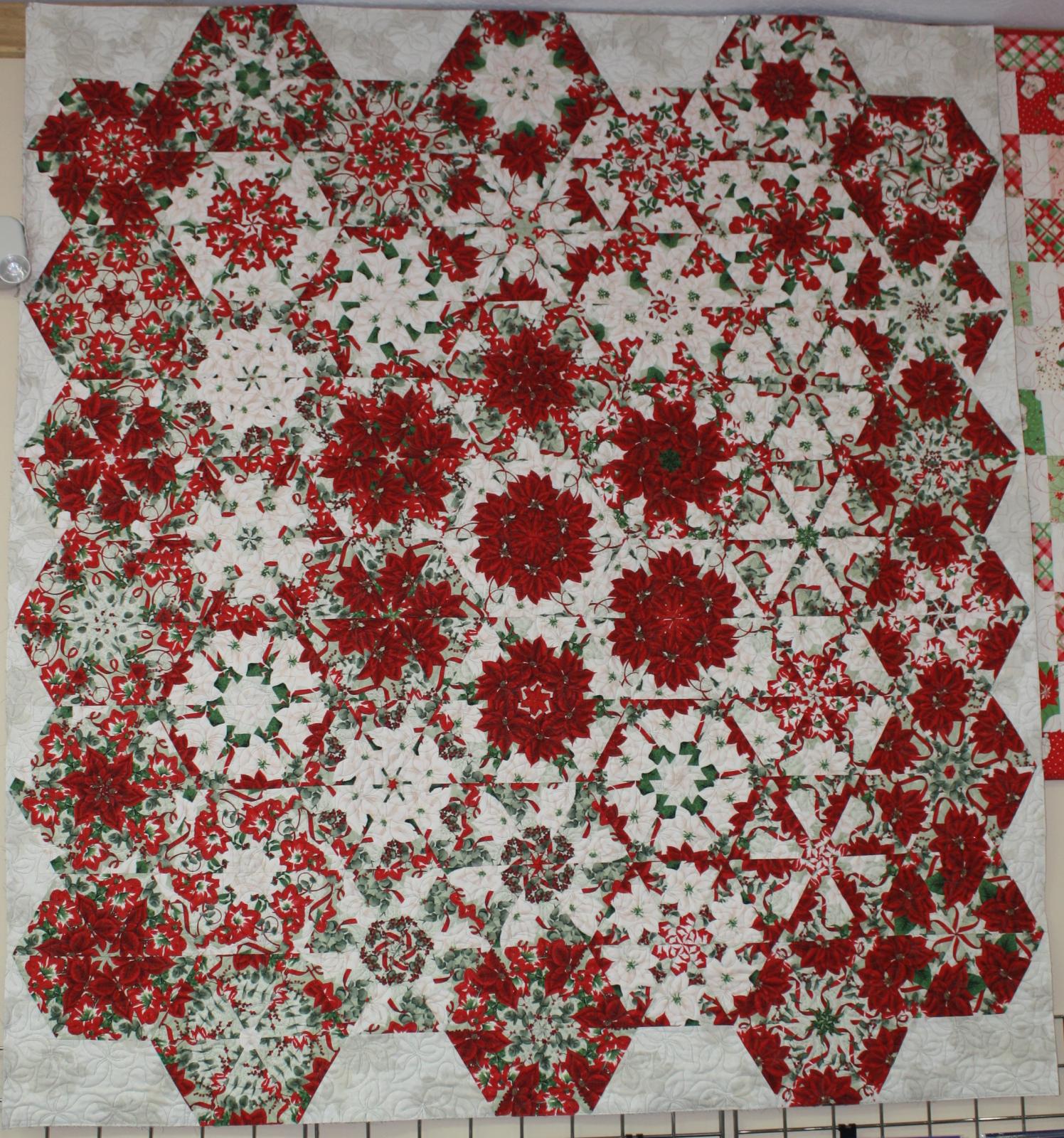Poinsettia Kaleidoscope Quilt Kit
