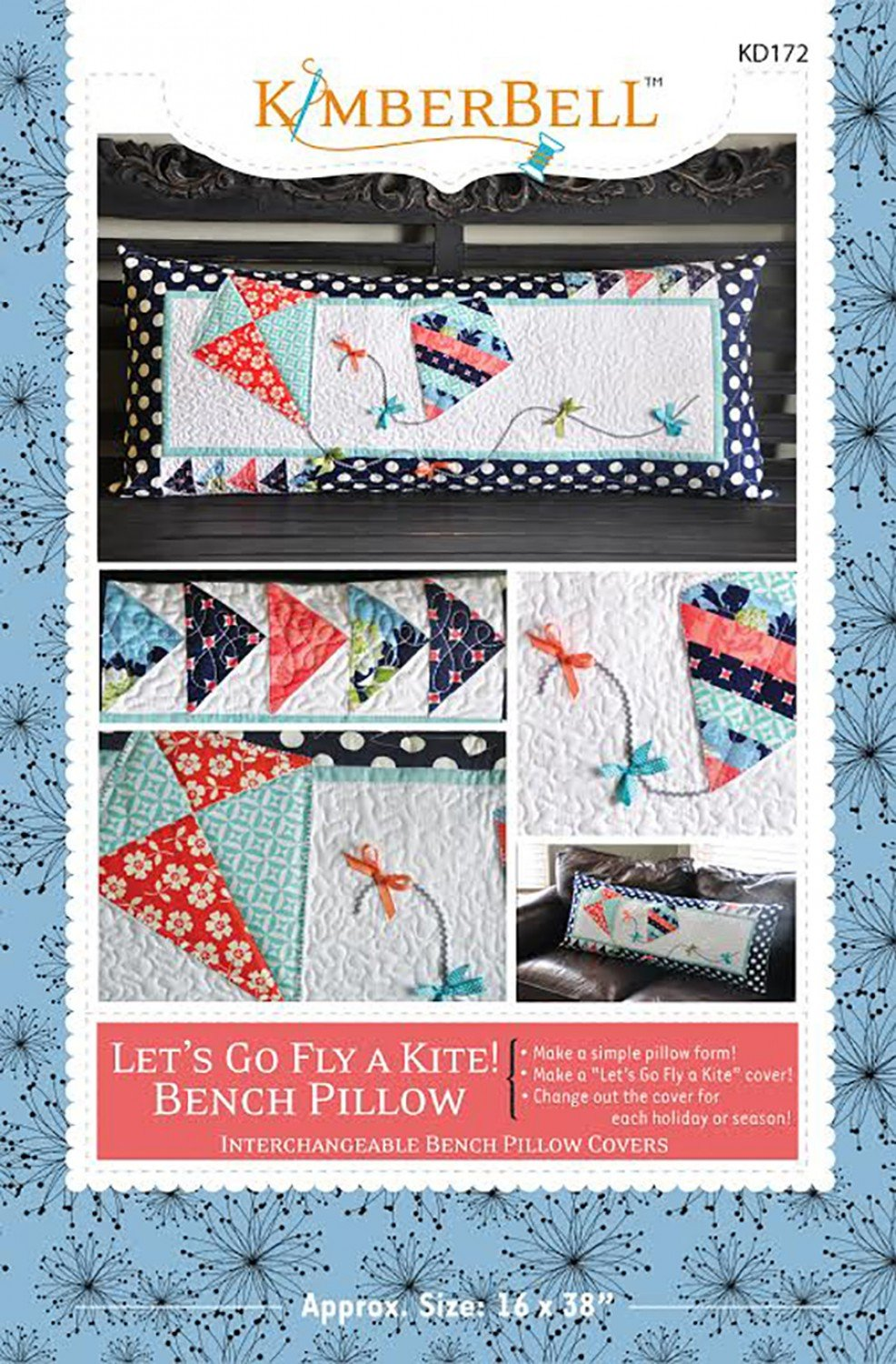 Let's Go Fly A Kite! Bench Pillow Sewing Pattern