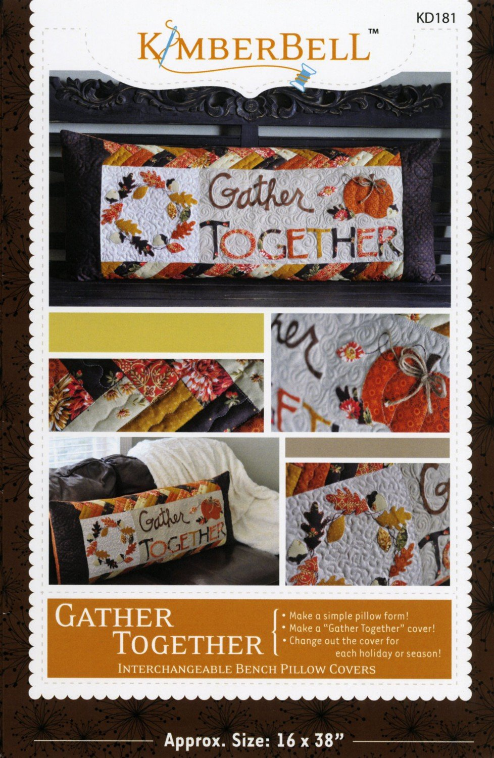 Gather Together Bench Pillow Sewing Pattern