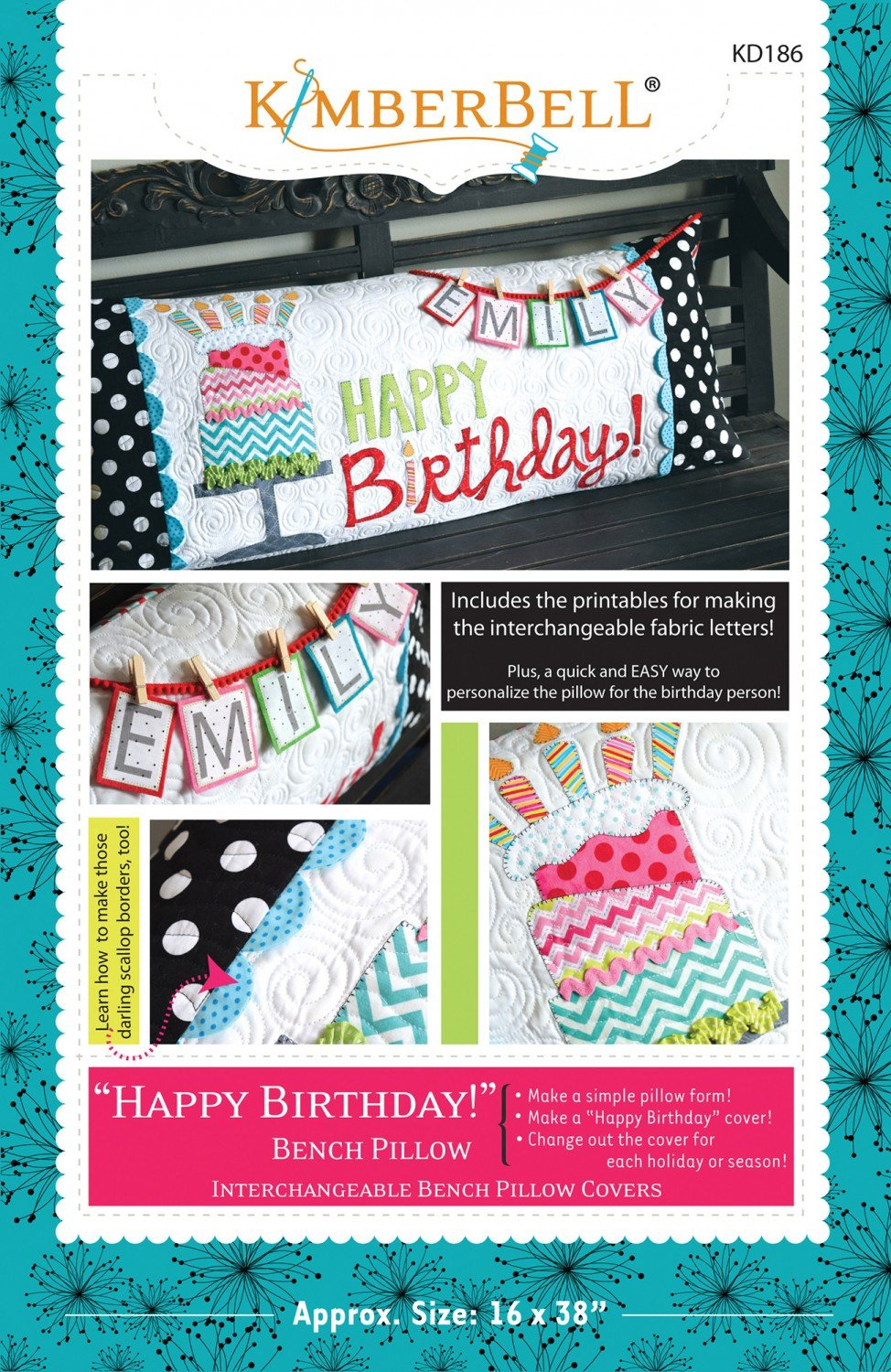 Happy Birthday! Bench Pillow Sewing Pattern