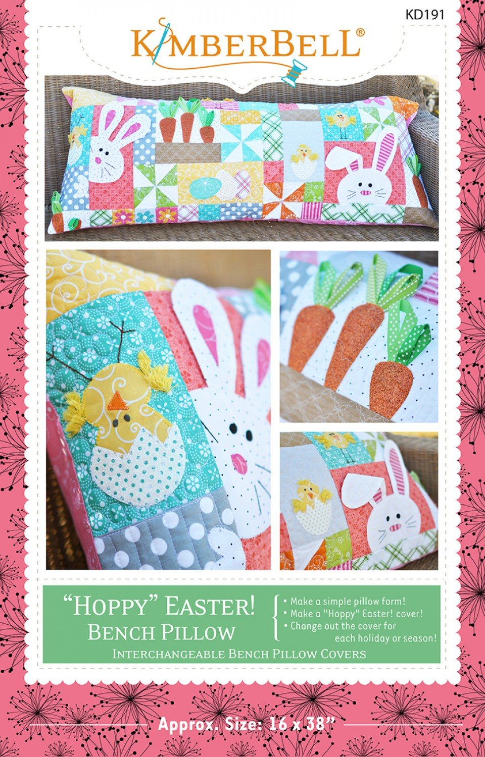 Hoppy Easter! Bench Pillow Sewing Pattern