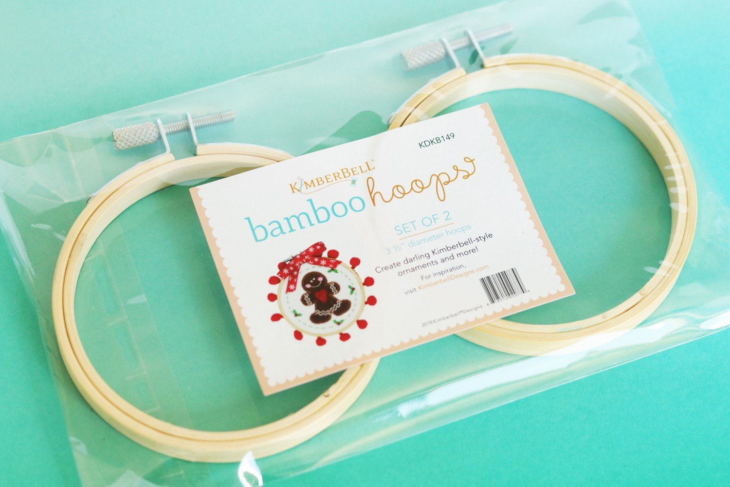 Bamboo Embroidery Hoops - Set of 2